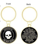 Grateful I'm Not Dead Gold Key Chain