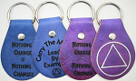 Laser Engraved Recovery Leather Key Chains With Color