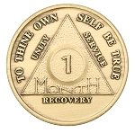 Wendell's Circle/Triangle Bronze Monthly AA Medallions