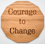 Laser Engraved Cherry Wood Coaster Courage to Change