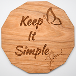Laser Engraved Cherry Wood Coaster Keep It Simple