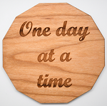 Laser Engraved Cherry Wood Coaster ODAAT