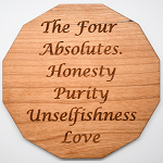 Laser Engraved Cherry Wood Coaster The Four Absolutes