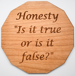 Laser Engraved Cherry Wood Coaster Honesty