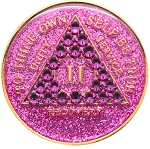 Crystallized Glitter Pink Medallion