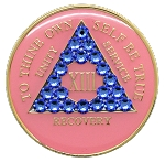 Crystallized Pink and Sapphire Medallion