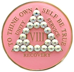 Bling Pink Crystallized Medallion