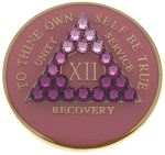 Transition Pink Crystallized Medallion