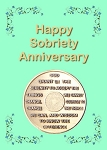 Happy Sobriety Anniversary Card with Serenity Prayer