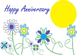 Happy Anniversary Flower 12 Step Recovery Card