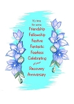 It's Time For Some Friendship, Recovery Anniversary Card