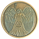 Angel Antique Bronze Affirmation Token