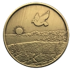 Dove Bronze Affirmation Coins  AA|NA|Al-Anon