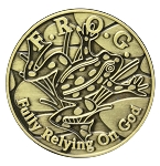 FROG Bronze Affirmation Coins  AA|NA|Al-Anon