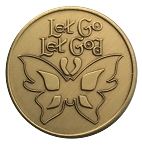 Let Go Let God Bronze Affirmation Coins AA|NA|Al Anon
