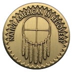 Native American in Recovery Bronze Affirmation Coins AA|NA|Al Anon