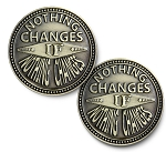 Nothing Changes If Nothing Changes Bronze Affirmation Coins  AA|NA|Al-Anon