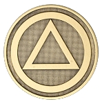 Alcoholics Anonymous Circle Triangle Bronze Coin