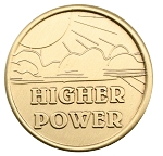 Higher Power Affirmation Bronze AA NA Al-Anon Coins