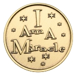 Alcoholics Anonymous I Am a Miracle Bronze AA Coin