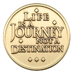 Life is a Journey AA Bronze Coin NA Al-Anon