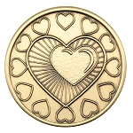 My Heart is in My Recovery Wendell's AA NA Al-Anon Bronze Coin