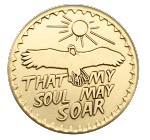 That My Soul May Soar AA Bronze Inspirational Recovery Coin