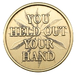 You Held Out Your Hand Affirmation Bronze AA NA Al-Anon Coins