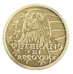 Veterans In Recovery Antique Bronze Recovery Medallion  AA|NA|Al-Anon