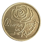 Women in Recovery Antique Bronze Recovery Medallion  AA|NA|Al-Anon