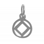Sterling Silver High Polished NA Symbol Small Pendant