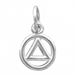 Sterling Silver High Polished AA Symbol Small Pendant
