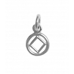Sterling Silver Mini NA Symbol in a Smooth Circle