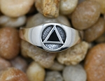 AA Symbol Sterling Silver Ring
