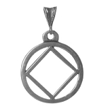 NA Symbol Sterling Silver Pendant