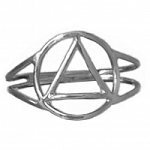 Sterling Silver Ring with AA Symbol