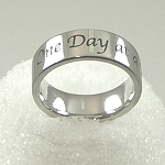 Stainless Steel One Day At A Time Ring