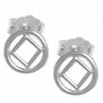 Sterling Silver NA Symbol Small Stud Earrings