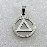 Stainless Steel AA Symbol Pendant Necklace