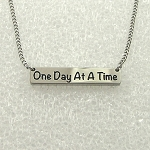 One Day At A Time Pendant Stainless Steel Necklace