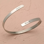 Expect Miracles Stainless Steel Bypass Bracelet