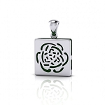 Sterling Silver Rose Aromatherapy Pendant