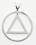 Sterling Silver AA Symbol Flat Style Pendant