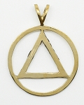 AA Symbol Brass Flat Style Pendant with Antique Finish