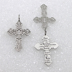Filigree Cross Serenity Prayer Stainless Steel Necklace