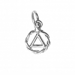 Twist Wire AA Symbol Very Small Sterling Silver Pendant