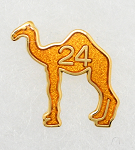Camel Lapel Pin with 24 Hours - Gold Plate
