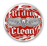 Ridin Clean Recovery Lapel Pin