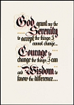 The Serenity Prayer (parchment)