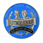 Old Timers Honoree Blue AA Medallions